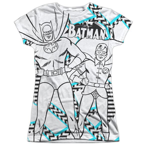 Batman Gaudy Bat Short Sleeve Junior Poly Crew T-Shirt
