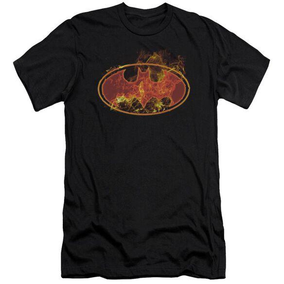 Batman Flames Logo Short Sleeve Adult T-Shirt