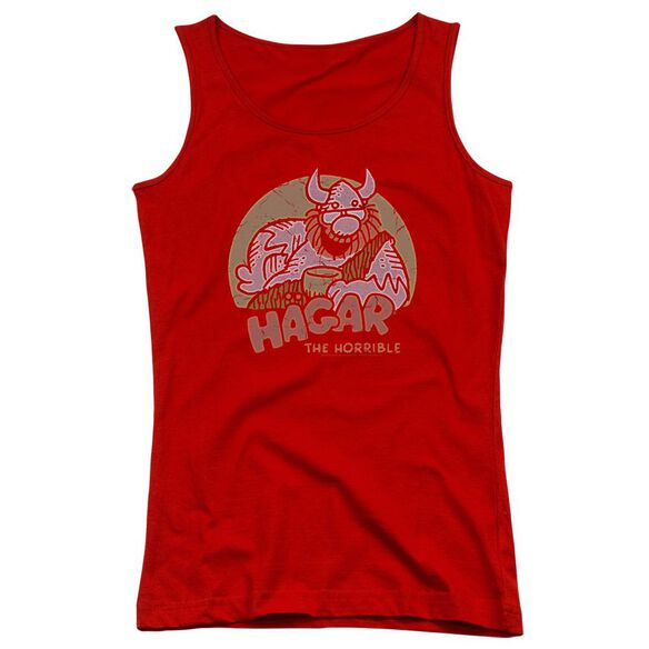 Hagar The Horrible Hagar Circle Juniors Tank Top Royal