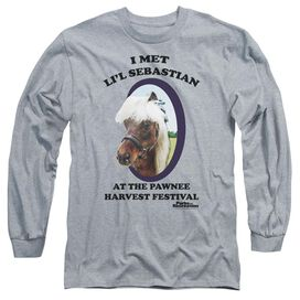Parks And Rec Lil Sebastian Long Sleeve Adult Athletic T-Shirt