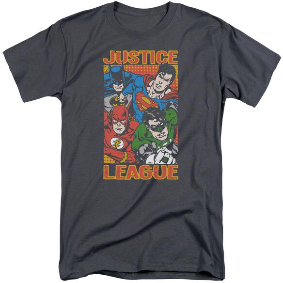 Jla Hero Mashup Short Sleeve Adult Tall T-Shirt