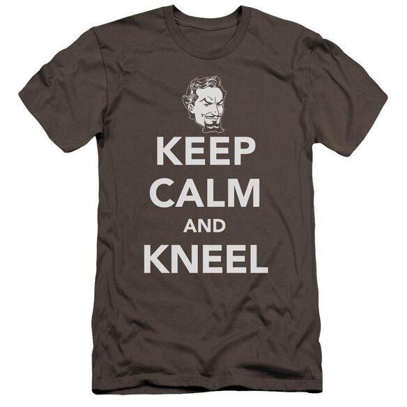 Dc Keep Calm And Kneel Premuim Canvas Adult Slim Fit