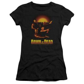 DAWN OF THE DEAD DAWN COLLAGE - S/S JUNIOR SHEER - BLACK - MD - BLACK T-Shirt