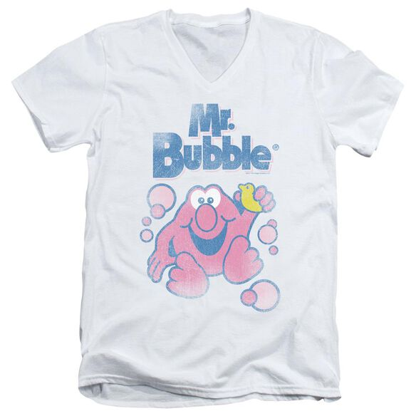 Mr Bubble 80 S Logo Short Sleeve Adult V Neck T-Shirt