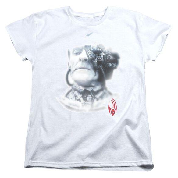 Star Trek Borg Head Short Sleeve Womens Tee T-Shirt