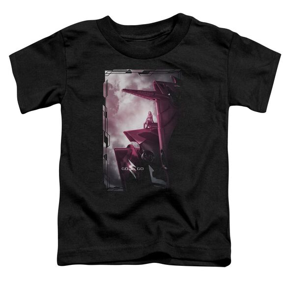 Power Rangers Pink Zord Poster Short Sleeve Toddler Tee Black T-Shirt