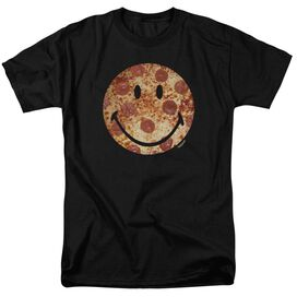 Smiley World Pizza Face Short Sleeve Adult T-Shirt