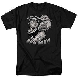 Popeye Gun Show Short Sleeve Adult T-Shirt