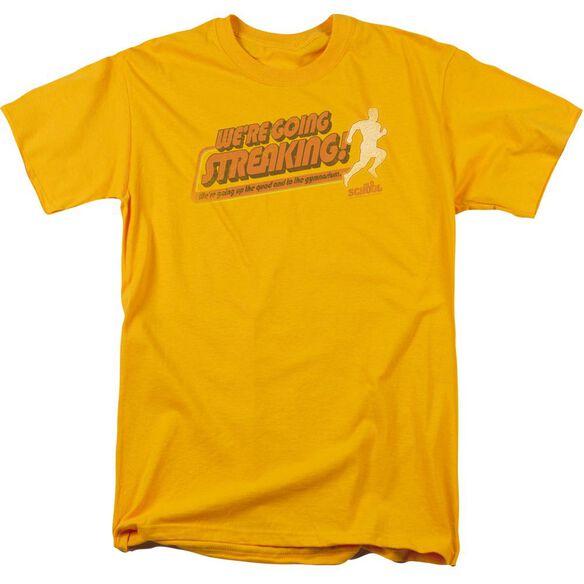 Old School Streaking Short Sleeve Adult T-Shirt
