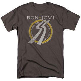 Bon Jovi Slippery When Wet World Tour Short Sleeve Adult T-Shirt