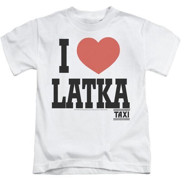 Taxi I Heart Latka Short Sleeve Juvenile White T-Shirt