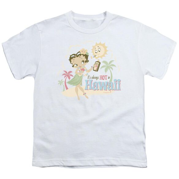 Betty Boop Hot In Hawaii Short Sleeve Youth T-Shirt