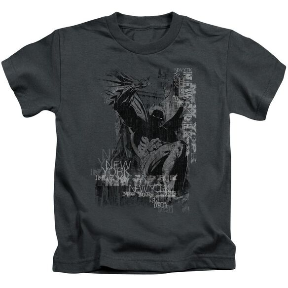 Batman The Knight Life Short Sleeve Juvenile Charcoal T-Shirt