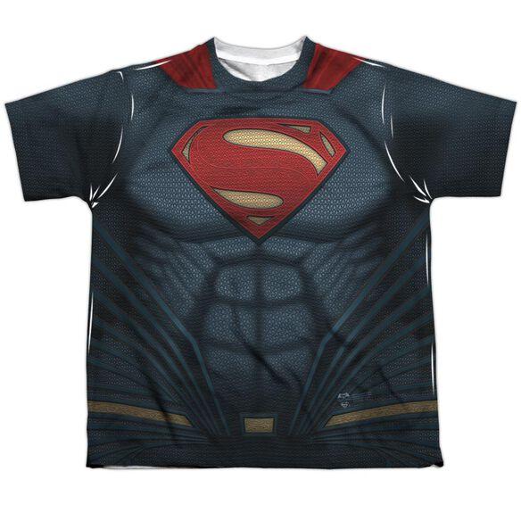 Batman V Superman Superman Uniform Short Sleeve Youth Poly Crew T-Shirt