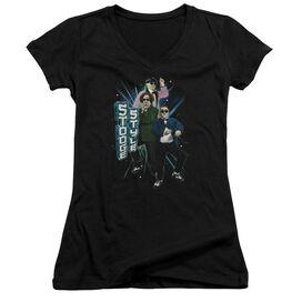 Three Stooges Stooge Style Junior V Neck T-Shirt