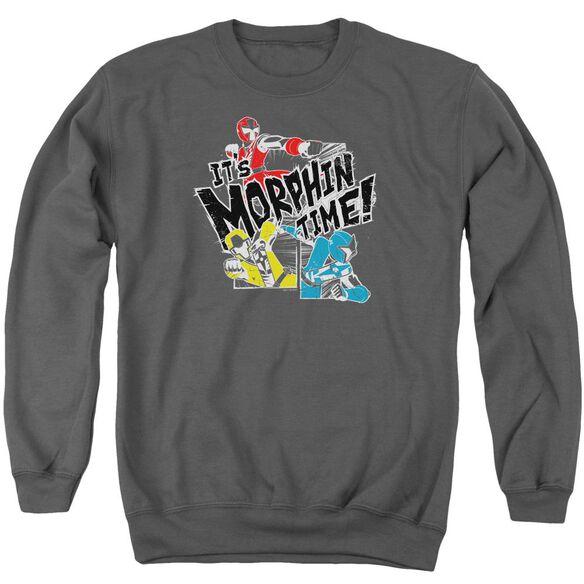 Power Rangers Panels Adult Crewneck Sweatshirt