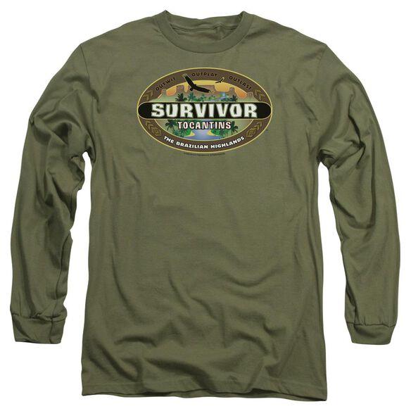 Survivor Tocantins Logo Long Sleeve Adult Military T-Shirt