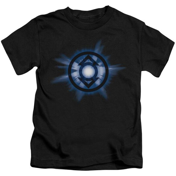 Green Lantern Indigo Glow Short Sleeve Juvenile Black Md T-Shirt