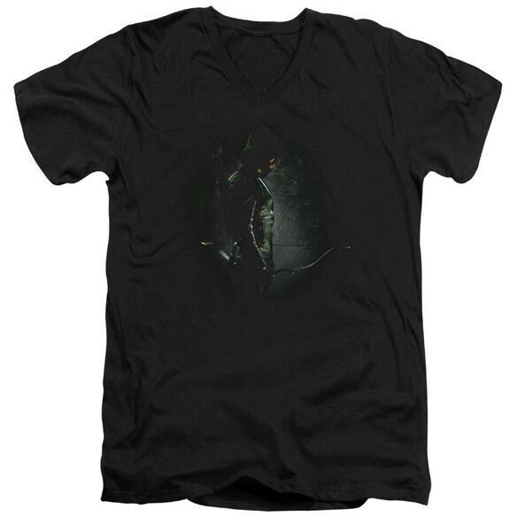 Arrow In The Shadows Short Sleeve Adult V Neck T-Shirt