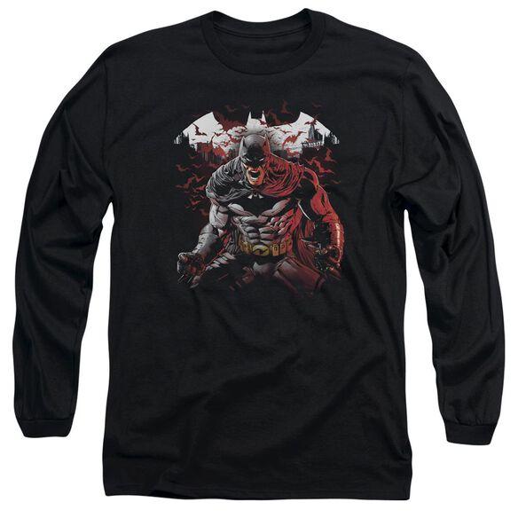 Batman Raging Bat Long Sleeve Adult T-Shirt