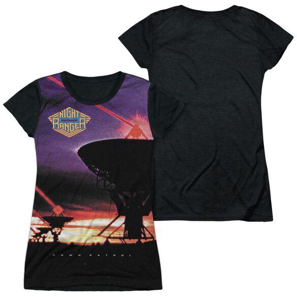 Night Ranger Dawn Patrol Short Sleeve Junior Poly Black Back T-Shirt