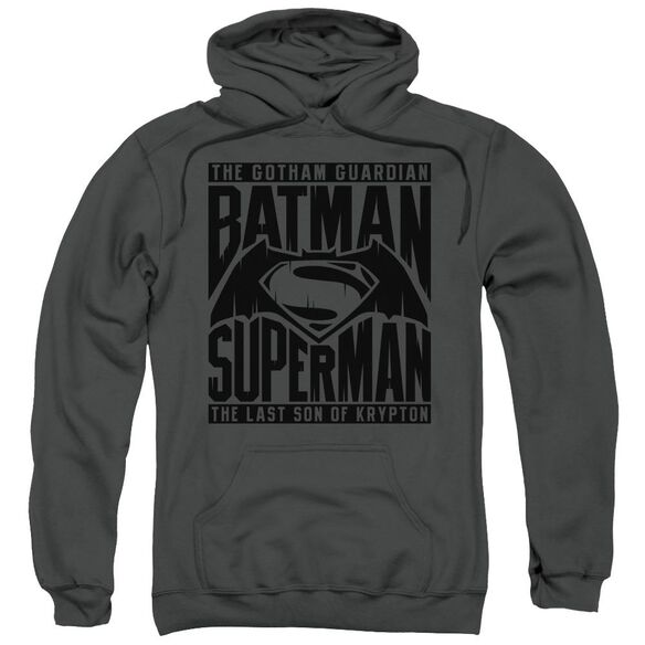 Batman V Superman Title Fight Adult Pull Over Hoodie