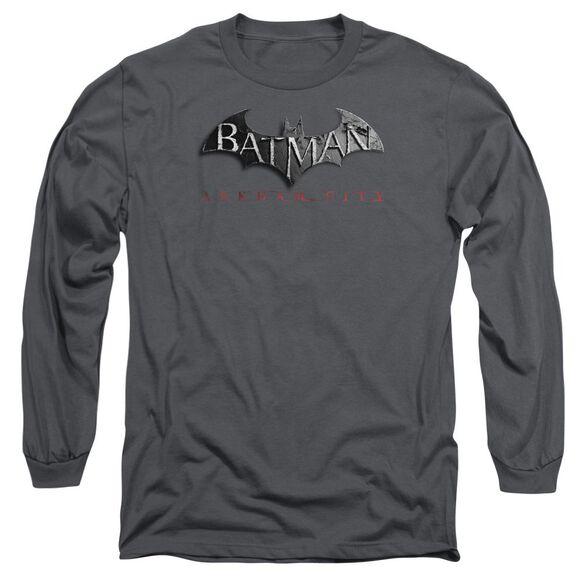 Arkham City Logo Long Sleeve Adult T-Shirt