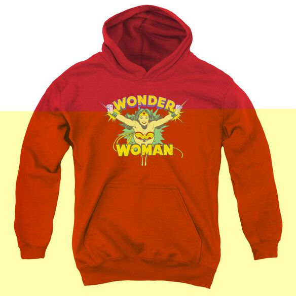 Dc Flying Through-youth Pull-over Hoodie - Red