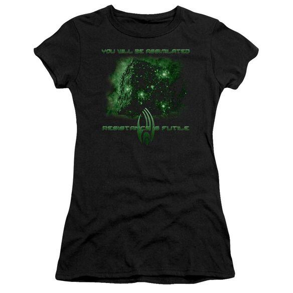 Star Trek Assimilate Short Sleeve Junior Sheer T-Shirt