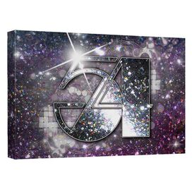 Studio 54 Party Starts Here Canvas Wall Art With Back Board