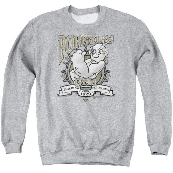 Popeye Forearms Adult Crewneck Sweatshirt Athletic