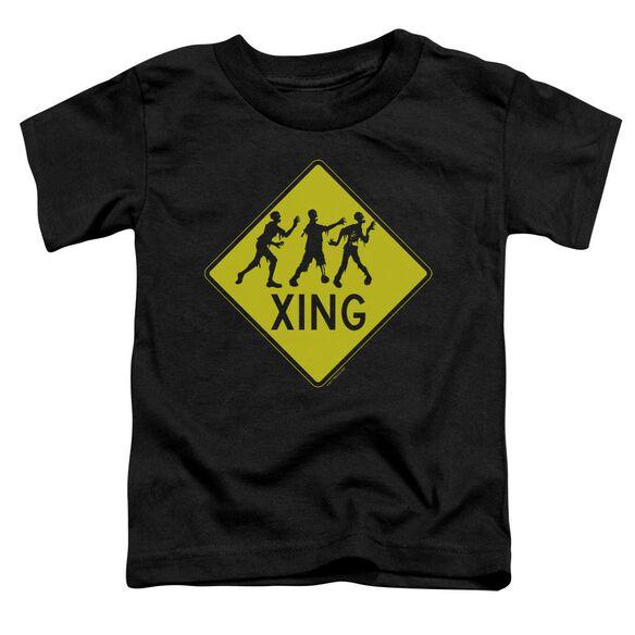 Zombie Xing Short Sleeve Toddler Tee Black Sm T-Shirt