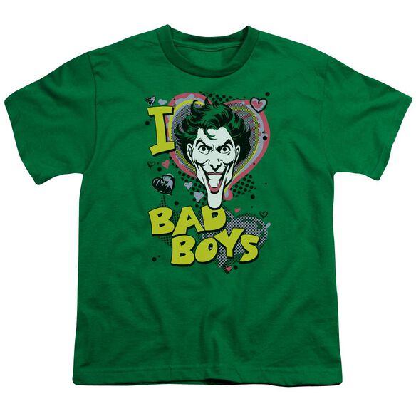 Dc I Heart Bad Boys 2 Short Sleeve Youth Kelly T-Shirt