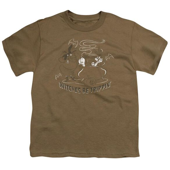Looney Tunes Witches Short Sleeve Youth Safari T-Shirt
