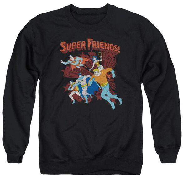 Dc Super Running Adult Crewneck Sweatshirt