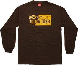 Willy Wonka Golden Ticket Long Sleeve T-Shirt