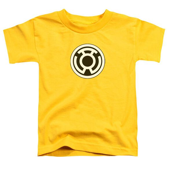 Green Lantern Sinestro Corps Logo Short Sleeve Toddler Tee Yellow Lg T-Shirt