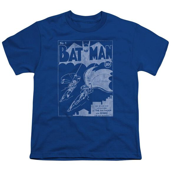 Batman Issue 1 Cover Short Sleeve Youth Royal T-Shirt