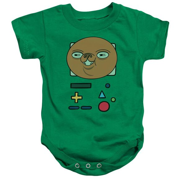 Adventure Time Bmo Mask Infant Snapsuit Kelly Green
