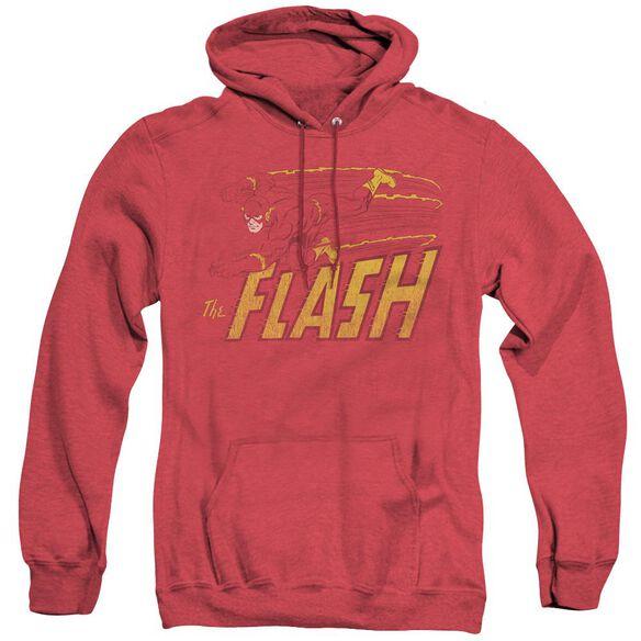 Dc Flash Flash Speed Distressed - Adult Heather Hoodie - Red