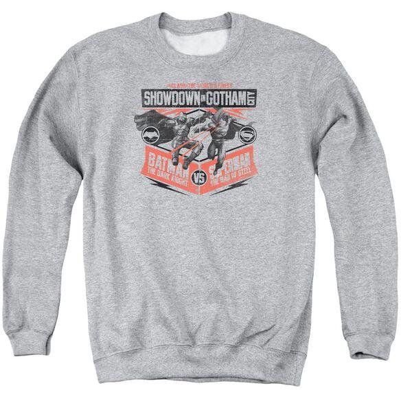 Batman V Superman Showdown In Gotham Adult Crewneck Sweatshirt Athletic