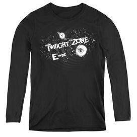 TWILIGHT ZONE ANOTHER DIMENSION - WOMENS LONG SLEEVE TEE - BLACK
