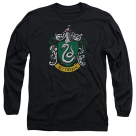 Harry Potter Slytherin Crest Long Sleeve Adult T-Shirt