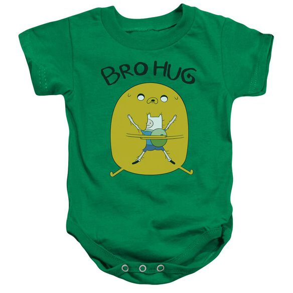 Adventure Time Bro Hug Infant Snapsuit Kelly Green