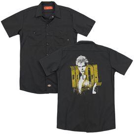 Billy Idol Brash(Back Print) Adult Work Shirt