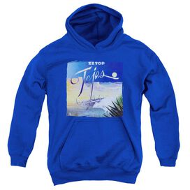 Zz Top Tejas Youth Pull Over Hoodie Royal