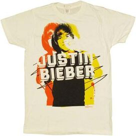 Justin Bieber Name T-Shirt Sheer
