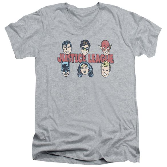 Dc Justice Lineup Short Sleeve Adult V Neck Athletic T-Shirt