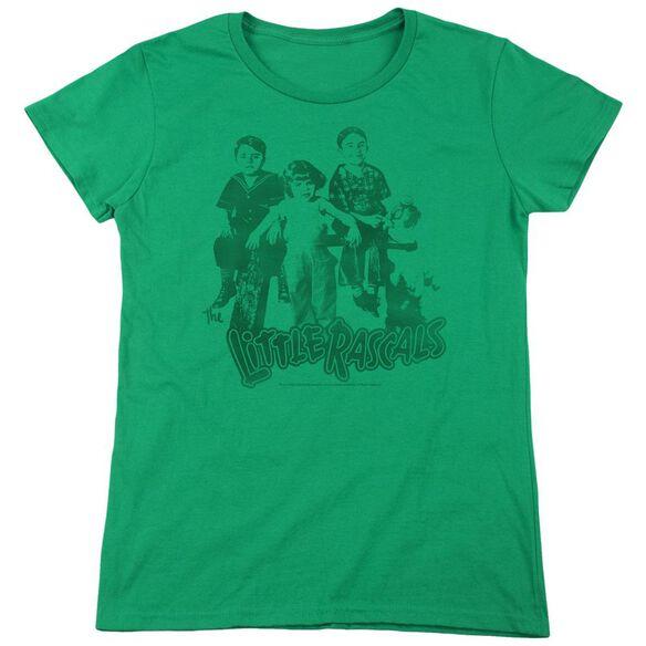 Little Rascals The Gang Short Sleeve Womens Tee Kelly T-Shirt