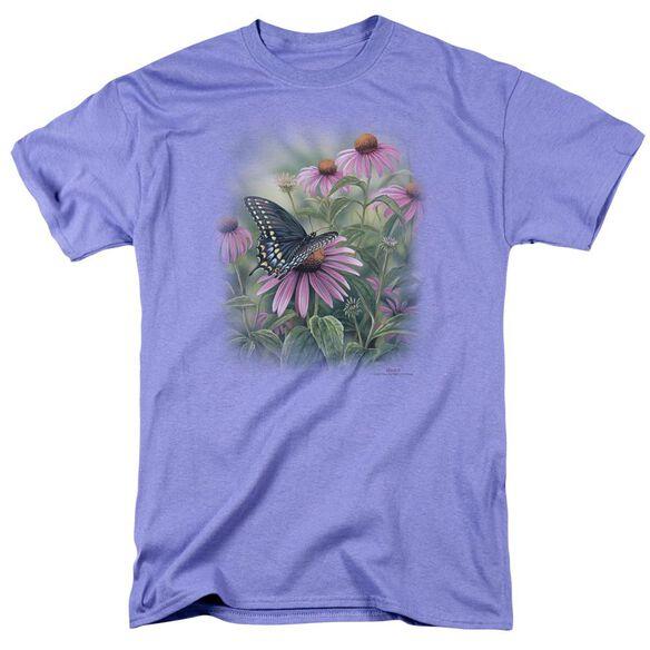 Wildlife Black Swallowtail Butterfly Short Sleeve Adult Lavendar T-Shirt